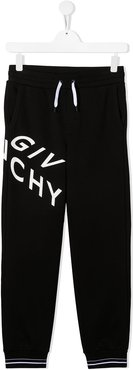 TEEN logo-print track pants - Black