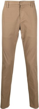 turn-up cuff chino trousers - Neutrals