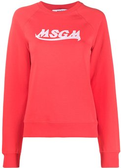 logo crewneck sweatshirt - Red