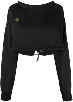 Audrey Tritto Capsule Cropped Sweatshirt For Woman