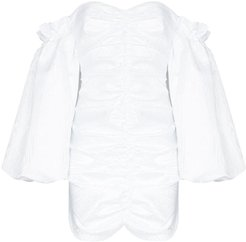 Phoebe White Dress With Puff Sleeves