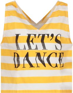 White And Yellow Girl Top With Writing
