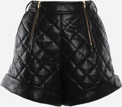 High-waisted Quilted Shorts