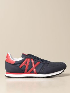 Armani Exchange Sneakers Basic Running Sneakers With Contrast Logo