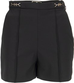 Ottoman Shorts With Logoed Clasp