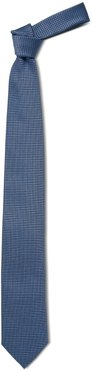 Piquet Jacquard Light Blue Silk Tie