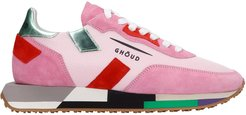 Rush Sneakers In Rose-pink Suede And Fabric