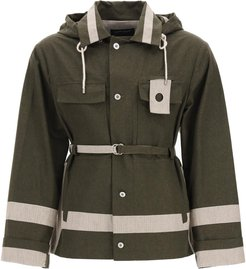 Two-tone Utility Jacket In Cotton