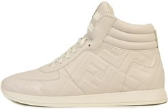 High-top Sneaker In White Leather