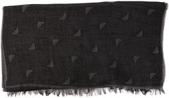 Logoed Cotton Blend Scarf