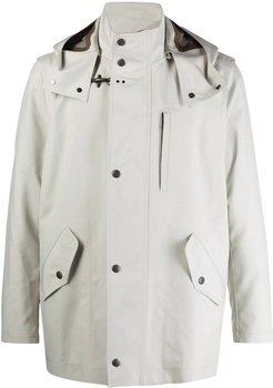 White Hooded Raincoat