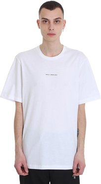 Gt21 T-shirt In White Cotton