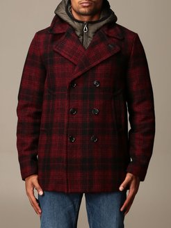 Palto Blazer Enea Paltò Double-breasted Check Coat