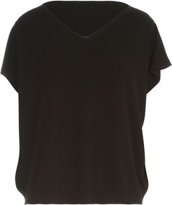 V Neck S/s Sweater W/down Sleeves