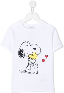 Jersey T-shirt With Snoopy Print