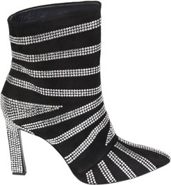 Strass Suede Boots