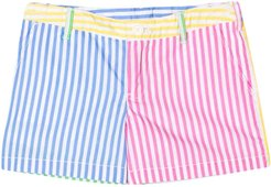 Multicolor Shorts With Lines