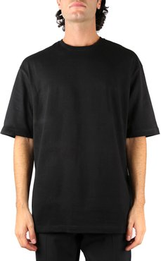 Black Cotton Oversized T-shirt