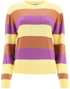 Striped Sweater With Crystals