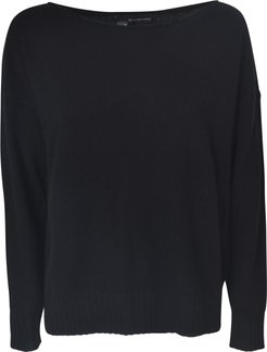 Wide Neck Ribbed Sweater