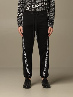 Pants Just Cavalli Jogging Trousers With Logoed Bands