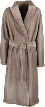Shearling Coat Double Face Brown