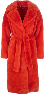 Red Coat With Fur Effect