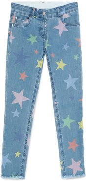 Multicolour Stars Skinny Denim Trousers