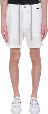 Taylor Shorts In White Triacetate