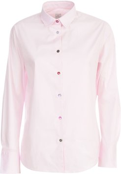 Pink Shirt W/colored Buttons