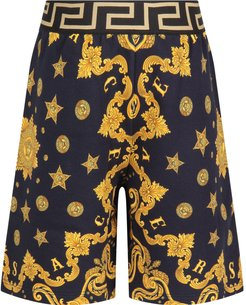 Blue Short For Boy With Gold Iconic Medusa