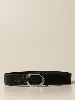 Belt Just Cavalli Belt In Leather With Reptile Print