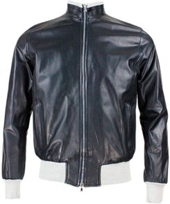 Fox Model Nappa Leather Jacket With Cotton Jersey Lining And Zip