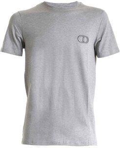 Dior Cd Embroidered Gray T-shirt