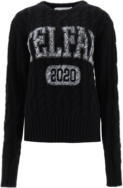 Cable-knit Sweater With Logo
