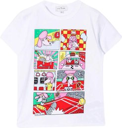White T-shirt With Press