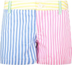 Multicolor Short For Girl With Pony Logo