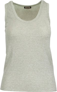 Ribs Lurex Tank Top
