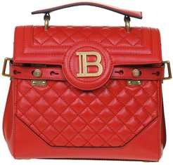 B-buzz Bag 23 In Quilted Leather Red