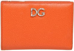 Small Wallet In Dauphine Calfskin With Rhinestone Dg