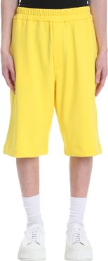 Shorts In Yellow Cotton