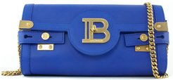 Blue Leather B-buzz 23 Clutch Bag