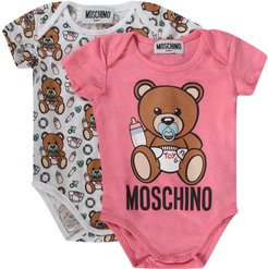 Pink And White Babygirl Set With Baby Teddy Bear