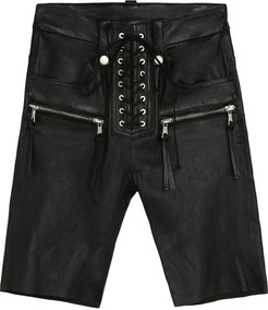 Leather Cyclist Shorts