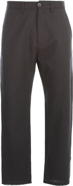 Wool Stretch Pants W/slit On Bottom