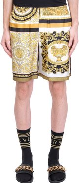 Shorts In Gold Silk
