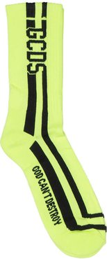 Fluo Yellow Socks Round