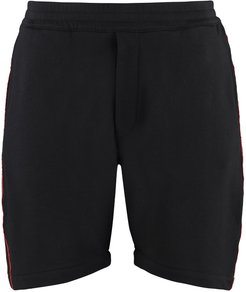 Logoed Side Bands Shorts