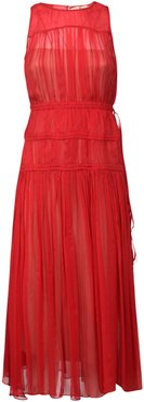 Pleated Detail Sleeveless Dress
