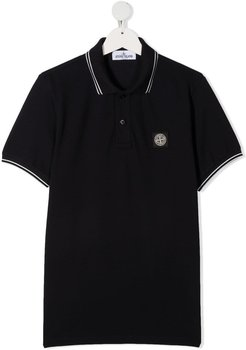 Jersey Polo With Logo Patch
